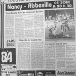 Programme Nancy-Abbeville - Saison 1987-1988 - D2 (22e j., 11/12/1987) - Supplément à L'Est républicain du 11/12/1987