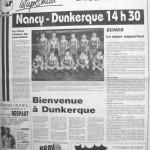 Programme Nancy-Dunkerque - Saison 1987-1988 - D2 (24e j., 27/02/1988) - Supplément à L'Est républicain du 27/02/1988