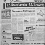 Programme Nancy-Strasbourg - Saison 1987-1988 - D2 (27e j., 25/03/1988) - Supplément à L'Est républicain du 25/03/1988