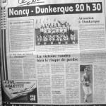 Programme Nancy-Dunkerque - Saison 1988-1989 - D2 (2e j., 22/07/1988) - Supplément à L'Est républicain du 22/07/1988