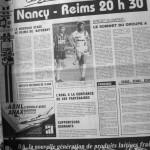 Programme Nancy-Reims - Saison 1988-1989 - D2 (6e j., 13/08/1988) - Supplément à L'Est républicain du 13/08/1988