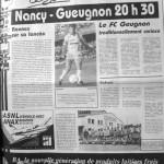 Programme Nancy-Gueugnon - Saison 1988-1989 - D2 (8e j., 20/08/1988) - Supplément à L'Est républicain du 20/08/1988