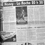 Programme Nancy-La Roche-sur-Yon - Saison 1988-1989 - D2 (15e j., 08/10/1988) - Supplément à L'Est républicain du 08/10/1988