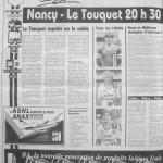 Programme Nancy-Le Touquet - Saison 1988-1989 - D2 (17e j., 29/10/1988) - Supplément à L'Est républicain du 29/10/1988