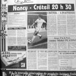 Programme Nancy-Créteil - Saison 1988-1989 - D2 (19e j., 12/11/1988) - Supplément à L'Est républicain du 12/11/1988