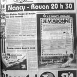 Programme Nancy-Rouen - Saison 1988-1989 - D2 (21e j., 03/12/1988) - Supplément à L'Est républicain du 03/12/1988