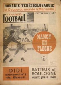 France football, n° 1235, 02/12/1969, Bernard Lech sous le maillot nancéien