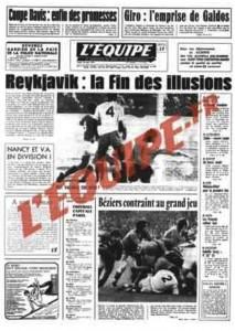 L'Équipe, 26/05/1975, « Nancy et V.A. en Division 1 » — Après une année de purgatoire, Nancy, comme Valenciennes, retrouve la D1.