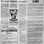 Programme Nancy-Montpellier - Saison 1968-1969 - D2 (5e j., 19/09/1968) - Supplément à L'Est républicain du 19/09/1968