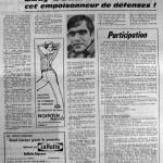 Programme Nancy-Angoulême - Saison 1967-1968 - D2 (30e j., 15/06/1968) - Supplément à L'Est républicain du 14/06/1968
