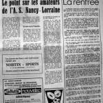 Programme Nancy-Lens - Saison 1968-1969 - D2 (3e j., 11/09/1968) - Supplément à L'Est républicain du 11/09/1968