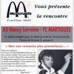 Programme Nancy-Martigues (Le Chardon rouge, n° 2) - Saison 1992-1993 - D2 (3e j., 22/08/1992)