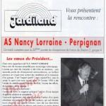 Programme Nancy-Perpignan (Le Chardon rouge, n° 11) - Saison 1992-1993 - D2 (20e j., 17/01/1993)