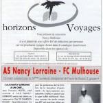 Programme Nancy-Mulhouse (Le Chardon rouge, n° 12) - Saison 1992-1993 - D2 (26e j., 12/03/1993)