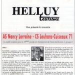 Programme Nancy-Louhans-Cuiseaux (Le Chardon rouge, n° 13) - Saison 1992-1993 - D2 (33e j., 08/05/1993)