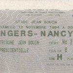 Billet Angers-Nancy - Saison 1994-1995 - D2 (19e j., 12/11/1994)