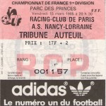 Billet RC Paris-Nancy - Saison 1984-1985 - D1 (18e j., 15/03/1985)