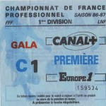 Billet Nancy-Bordeaux - Saison 1986-1987 - D1 (11e j., 24/09/1986)