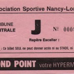 Billet (contremarque) Nancy-Bordeaux - Saison 1985-1986 - D1 (23e j., 07/12/1985)