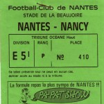 Billet Nantes-Nancy - Saison 1985-1986 - D1 (14e j., 05/10/1985)