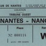 Billet Nantes-Nancy - Saison indéterminée