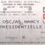 Billet Lille-Nancy - Saison 1996-1997 - D1 (29e j., 14/03/1997)