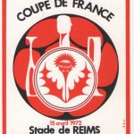 Sous-verre Reims-Nancy - Saison 1971-1972 - Coupe de France (1/4 de finale, 15/04/1972) - rouge 001