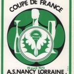 Sous-verre Nancy-Reims - Saison 1971-1972 - Coupe de France (quart de finale retour, 19/04/1972) - vert 002
