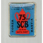 Pins Bastia-Nancy - Saison 1991-1992 - Coupe de France (quart de finale, 22/04/1992)