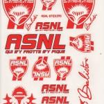 Planche d'autocollants ASNL Baliston
