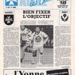 Programme Auxerre-Nancy - Saison 1991-1992 - D1 (14e j., 18/10/1991)