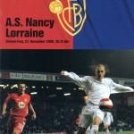 Programme Bâle-Nancy - Saison 2006-2007 - Coupe UEFA (match de poule #2, 23/11/2006)