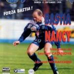 Programme Bastia-Nancy - Saison 1999-2000 - D1 (6e j., 11/09/1999)