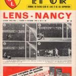 Programme Lens-Nancy - Saison 1983-1984 - D1 (13e j., 08/10/1983)