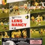 Programme Lens-Nancy - Saison 1985-1986 - D1 (29e j., 08/02/1986)