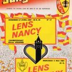 Programme Lens-Nancy - Saison 1986-1987 - D1 (32e j., 17/04/1987)