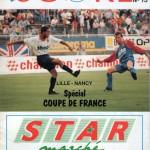 Programme Lille-Nancy - saison 1989-1990 - Coupe de France (16e de finale, 10/03/1990)