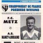 Programme Metz-Nancy - Saison 1991-1992 - D1 (23e j., 18/12/1991)