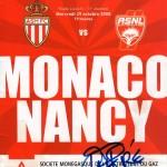 Programme Monaco-Nancy - Saison 2008-2009 - L1 (11e j., 29/10/2008)
