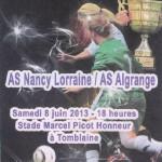 Programme Nancy-Algrange féminines - Saison 2012-2013 - Coupe de Lorraine (finale, 08/06/2013)