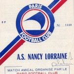Programme Nancy-Atletico Mineiro - Saison 1977-1978 - Match amical (Parc des Princes, 06/09/1977)