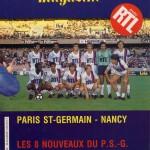 Programme Paris SG-Nancy - Saison 1984-1985 - D1 (1re j., 17/08/1984)