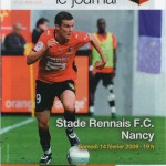 Programme Rennes-Nancy - Saison 2008-2009 - Ligue 1 (24e j., 14/02/2009)