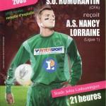 Programme Romorantin-Nancy - Saison 2008-2009 - Coupe de France (32e de finale, 03/01/2009)