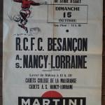 Affiche Nancy-Besançon - Saison 1967-1968 - D2 (9e j., 15/10/1967)