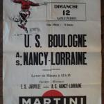 Affiche Nancy-Boulogne - Saison 1967-1968 - D2 (14e j., 12/11/1967)