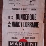 Affiche Nancy-Dunkerque - Saison 1967-1968 - D2 (18e j., 07/01/1968)