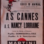 Affiche Nancy-Cannes - Saison 1967-1968 - D2 (26e j., 05/04/1968)