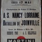 Affiche Nancy-Bataillon de Joinville - Saison 1967-1968 - D2 (29e j., 17/05/1968)