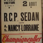 Affiche Nancy-Sedan - Saison 1967-1968 - Match amical (02/08/1967)
